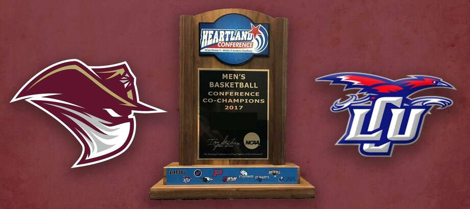 The Heartland Conference championship trophy will be presented to the basketball team at 11:45 a.m. on Friday prior to the softball game. Photo: Courtesy Of TAMIU Athletics