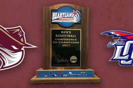 The Heartland Conference championship trophy will be presented to the basketball team at 11:45 a.m. on Friday prior to the softball game.