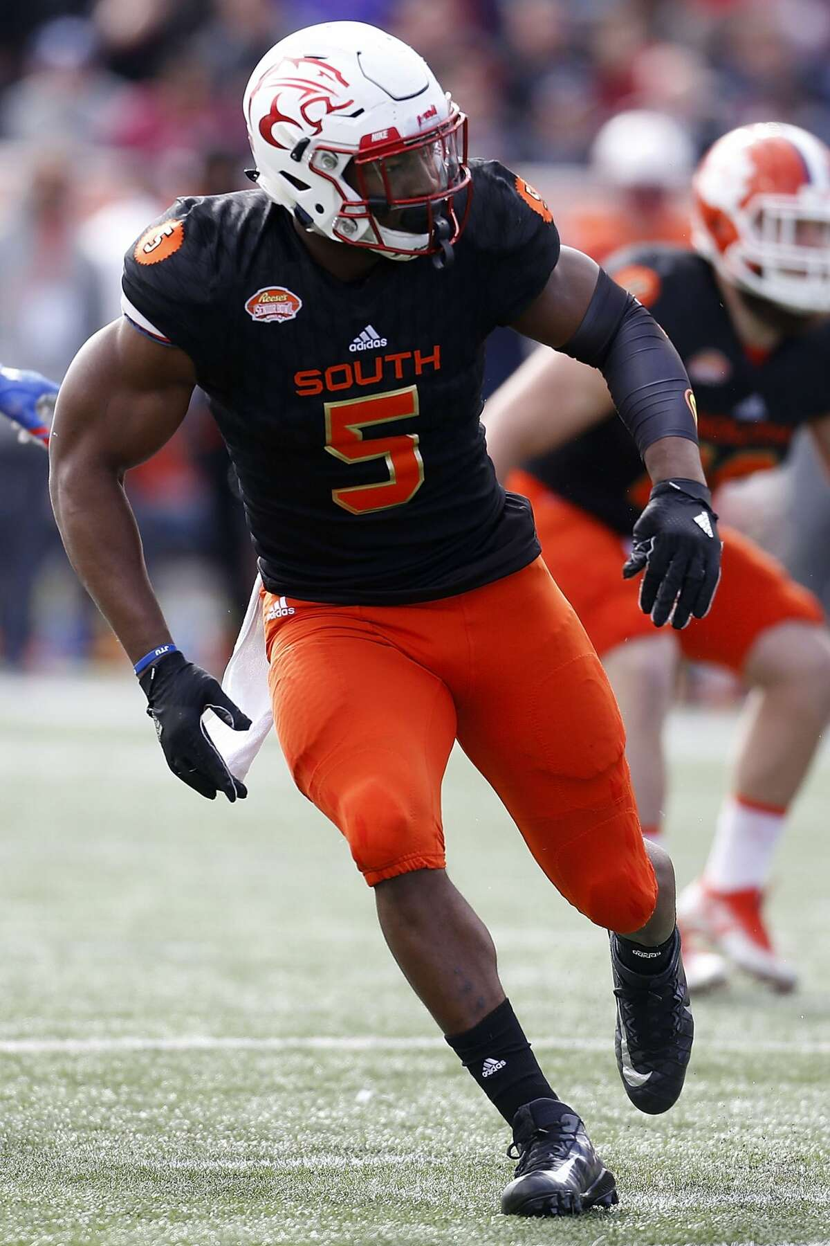 LB Tyus Bowser, Houston Notes: The former college basketball player might be on the smallish side for an edge rusher, but some team will take a risk on his athleticism.
