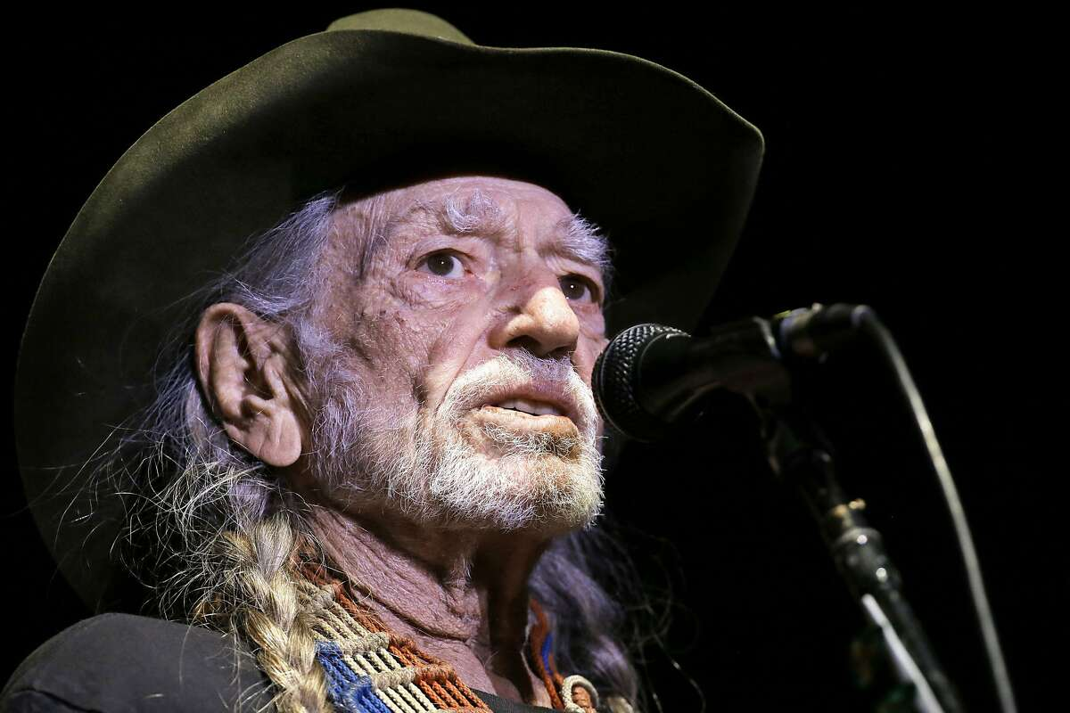 """FILE - In this Jan. 7, 2017, file photo, Willie Nelson performs in Nashville, Tenn. Nelson's latest album, """"God�s Problem Child,"""" will be released on Friday, April 28. (AP Photo/Mark Humphrey, File)"""