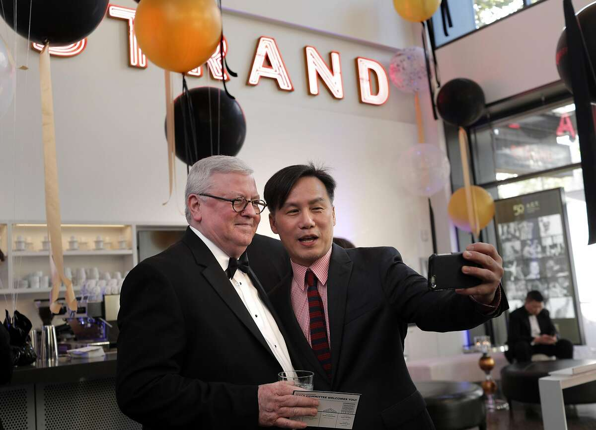 BD Wong poses for a selfie with Craig Slaight at the 50th anniversary gala for ACT at the Strand Theater in San Francisco, Calif., on Thursday, April 27, 2017. The star-studded event included VIPs from stage and screen honoring the