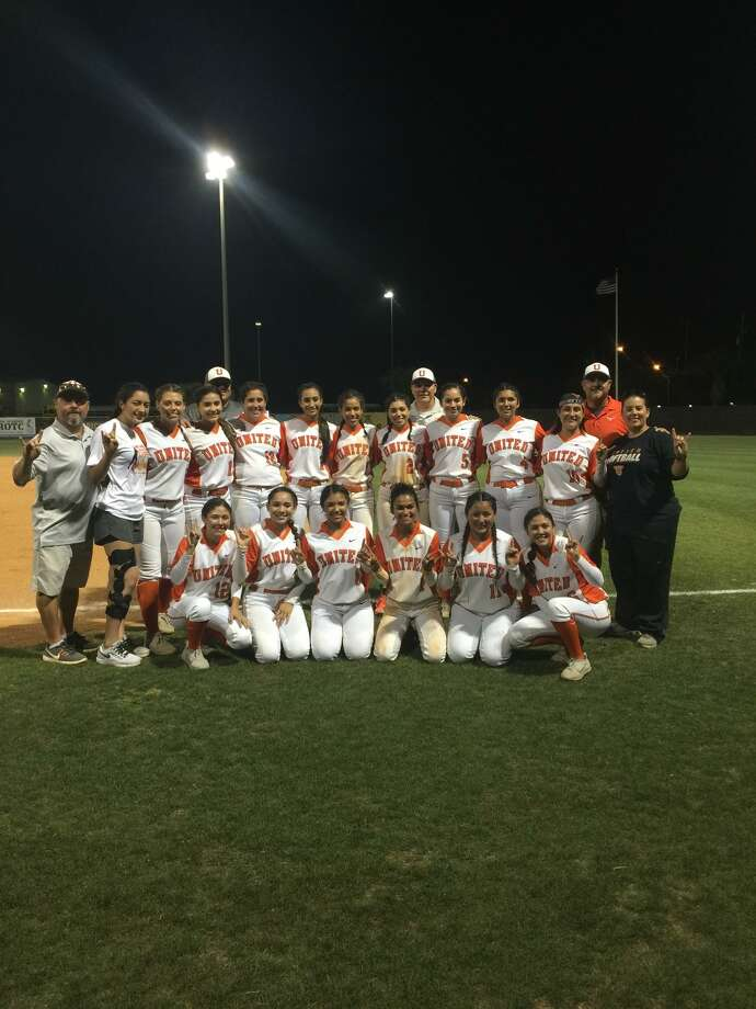 The United softball team won their first playoff game in school history knocking off McAllen Memorial 3-2 Thursday in Corpus Christi. Photo: Courtesy Photo