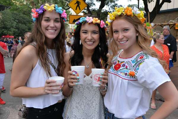 San Antonio's college crowd flocked to La Villita on Thursday, April 27, 2017 to celebrate the highly anticipated college night at NIOSA during Fiesta 2017.