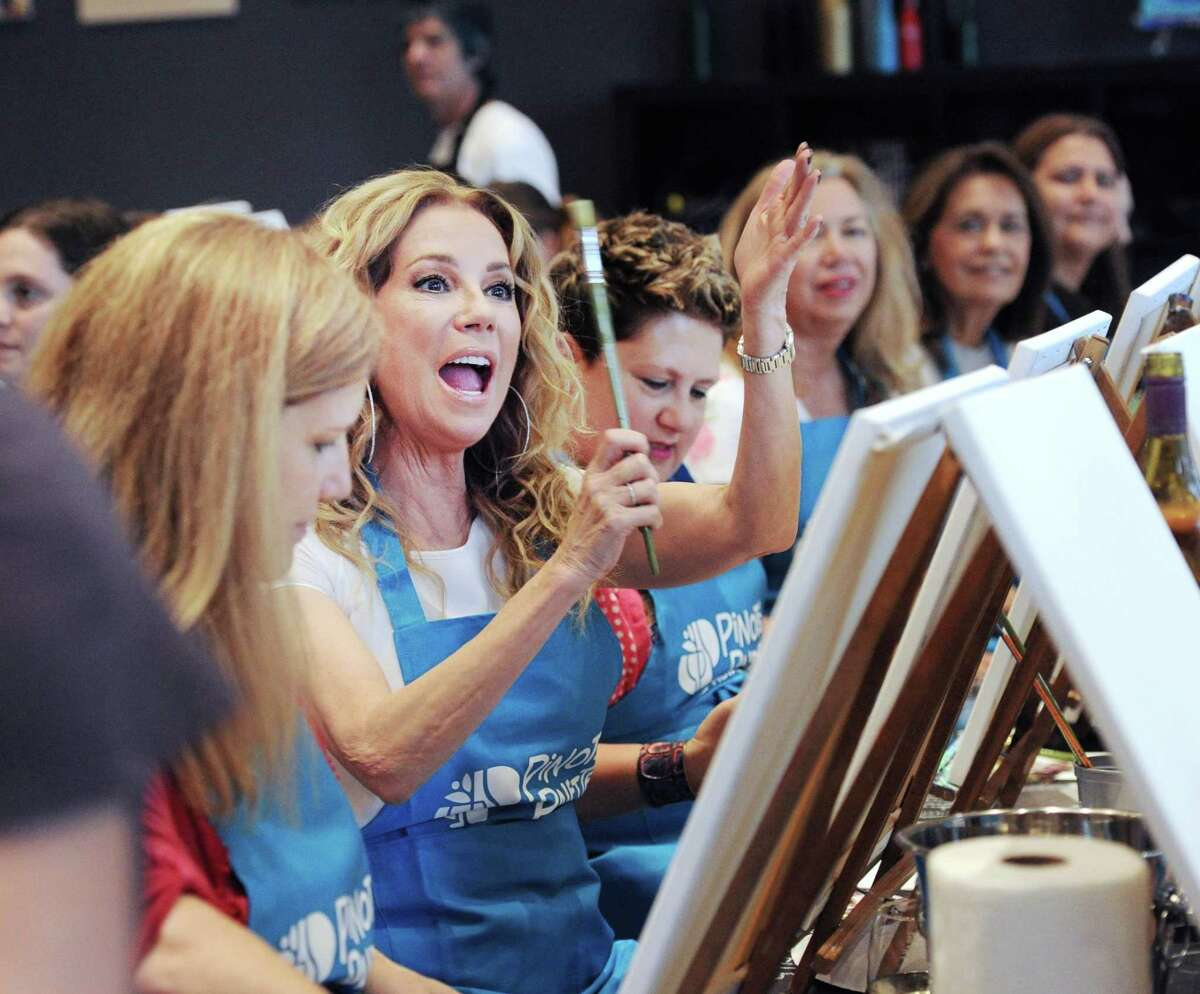 Greenwich resident and Today Show host Kathie Lee Gifford during her paint and pour party to promote her GIFFT brand wines at Pinot's Palette in Stamford, Conn., Thursday night, April 27, 2017.