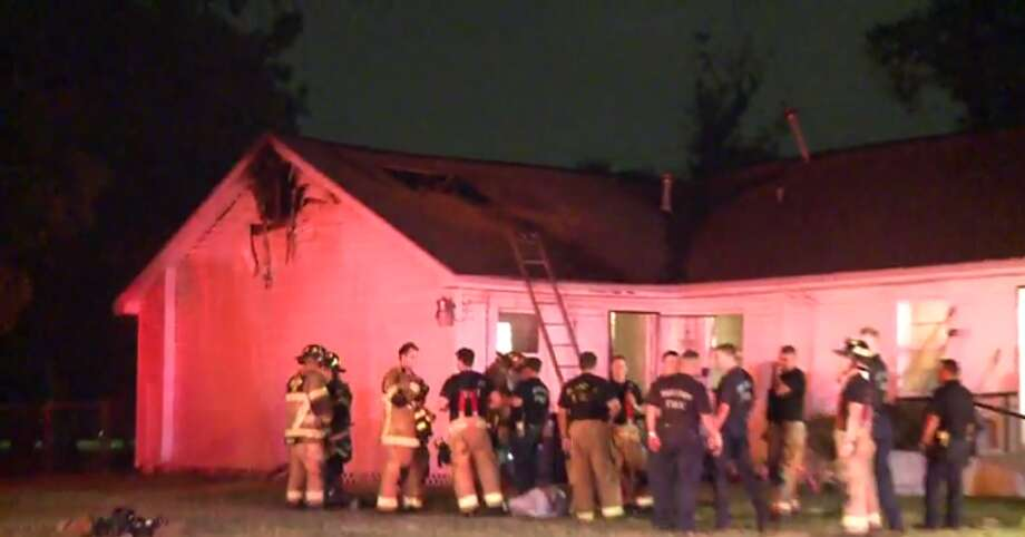 The Houston Fire Department is investigating the cause of a blaze that broke out at a northeast Houston church. (Metro Video) Photo: Metro Video