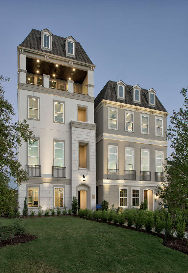 Ranging from 2,000 to 4,600 square feet, the two-, three- and four-story, European-inspired-style homes offer open floor plans. Other options include wood floors, marble countertops, rooftop terraces and elevators.