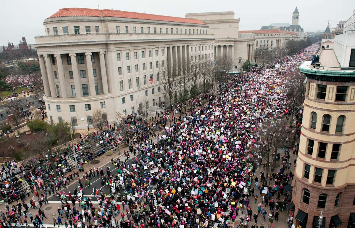2. Women's March on Washington Protests flared up all over the world Jan. 21, 2017 in opposition to Donald Trump.