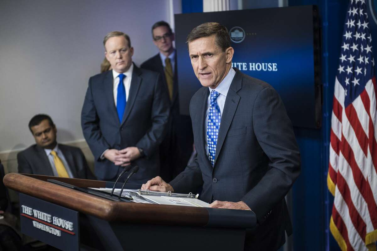 3. Former Security Adviser Michael Flynn resigns Trump's security adviser Michael Flynn resigned Feb. 13, 2017 following reports he met with a Russian ambassador.