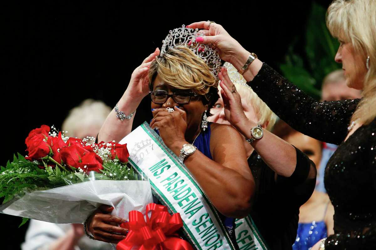 Juanita Washington is crowned as the winner of the 2017 Ms. Pasadena Senior Pageant Thursday, April 27, 2017 in Pasadena. Washington wins a $500 cash prize, a $2,000 pendant from Frank's & Sons Jewelry and will represent the city at community events for the next year.