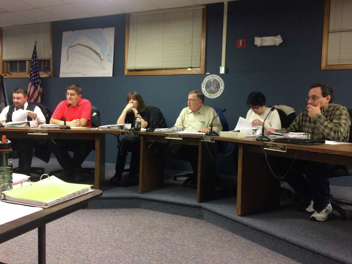 Seymour Board of Finance during a recent budget meeting