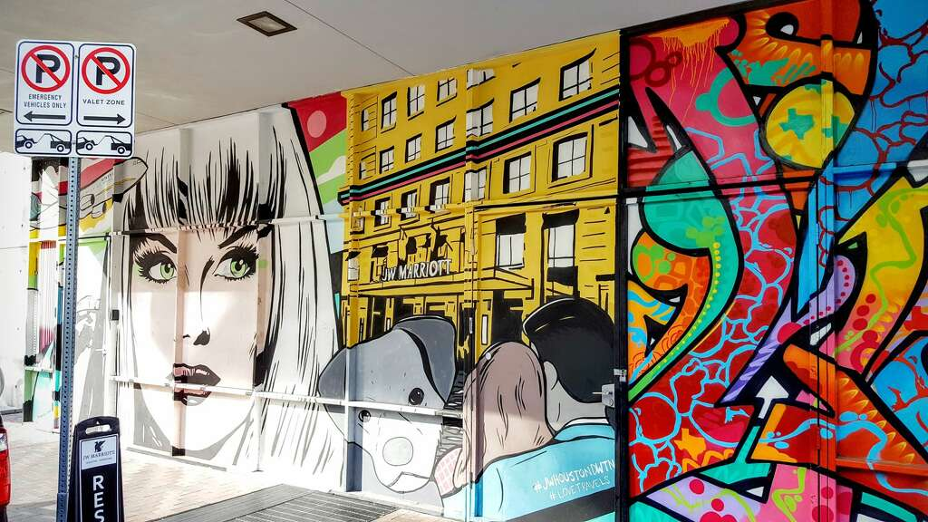 Houston street artist creates one of city\'s first 3-D murals ...