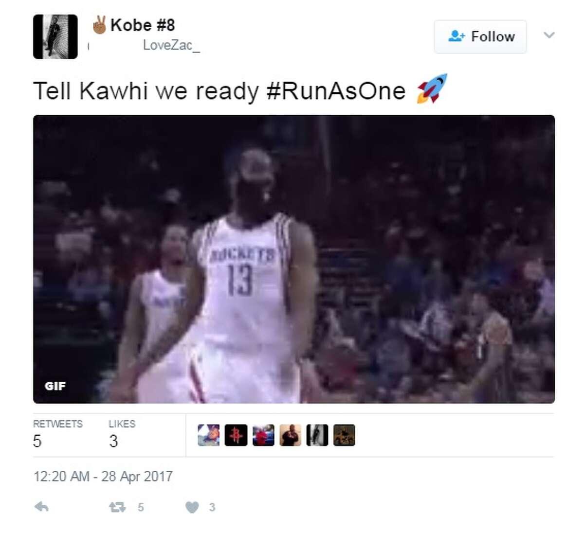 Kobe #8: Tell Kawhi we ready #RunAsOne