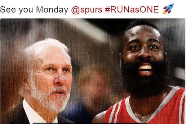 @LilMaccc:  See you Monday @spurs #RUNasONE