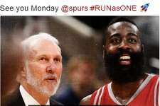 @LilMaccc:  See you Monday @spurs #RUNasONE