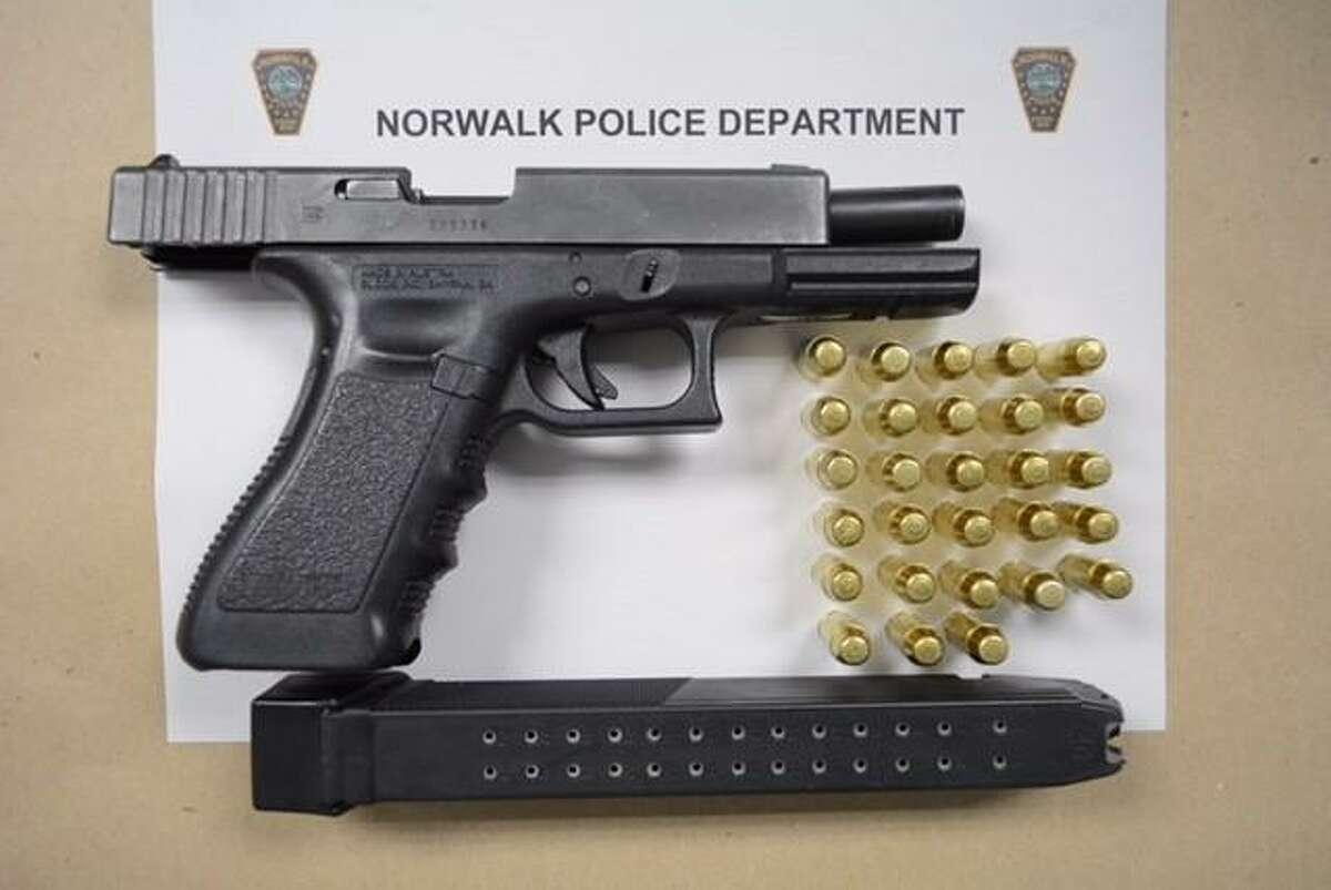 A 40. caliber handgun seized by police.