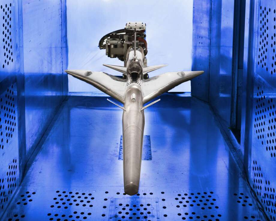 QueSST experimental aircraft in the 8' x 6' wind tunnel. Photo: NASA