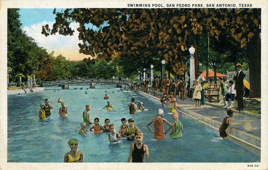 Swimming Pool. San Pedro Park, San Antonio, Texas (circa 1923) Source: edwardsaquifer.net Photo: Edwardsaquifer.net
