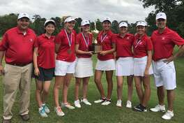 St. John's School won its first SPC championship in girls golf with a two-day total of 464, led by individual champion Christine Wang. The Mavericks' roster includes Denise Pan, Morgan Sholeen, Grace Wilson, May McCabe, Olivia Zhang, Lauren Childers, McKenna Grabowski, Eleanor Kate Habich and Margaret Shelburne. The team is coached by Joseph Soliman and Harris Forbes.