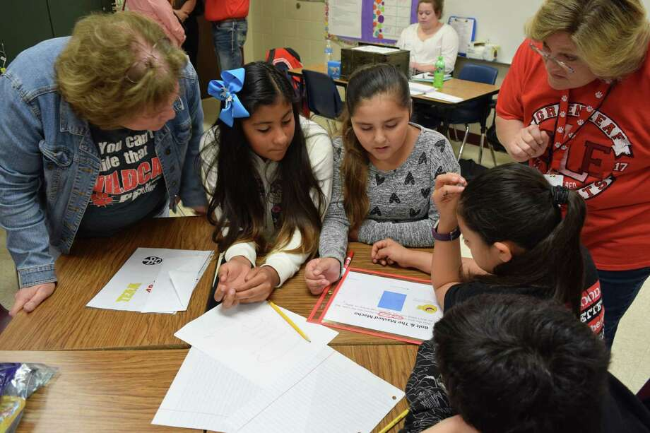 Greenleaf Elementary School math teacher Donna Conner is engaging her fifth-graders by recreating the popular escape room concept in her classroom. Photo: Submitted