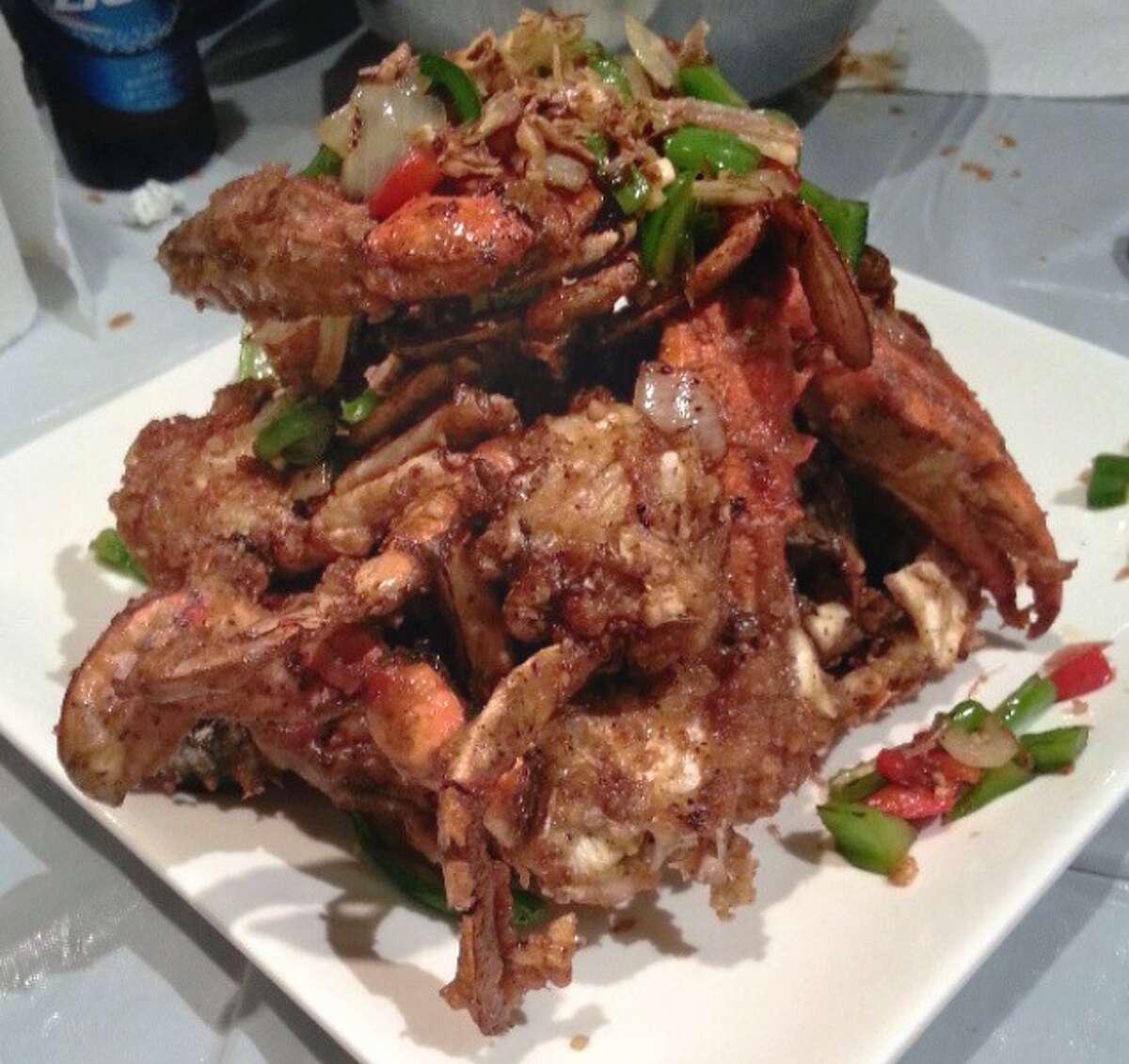 Salt & Pepper Blue Crabs at Crawfish & Noodles