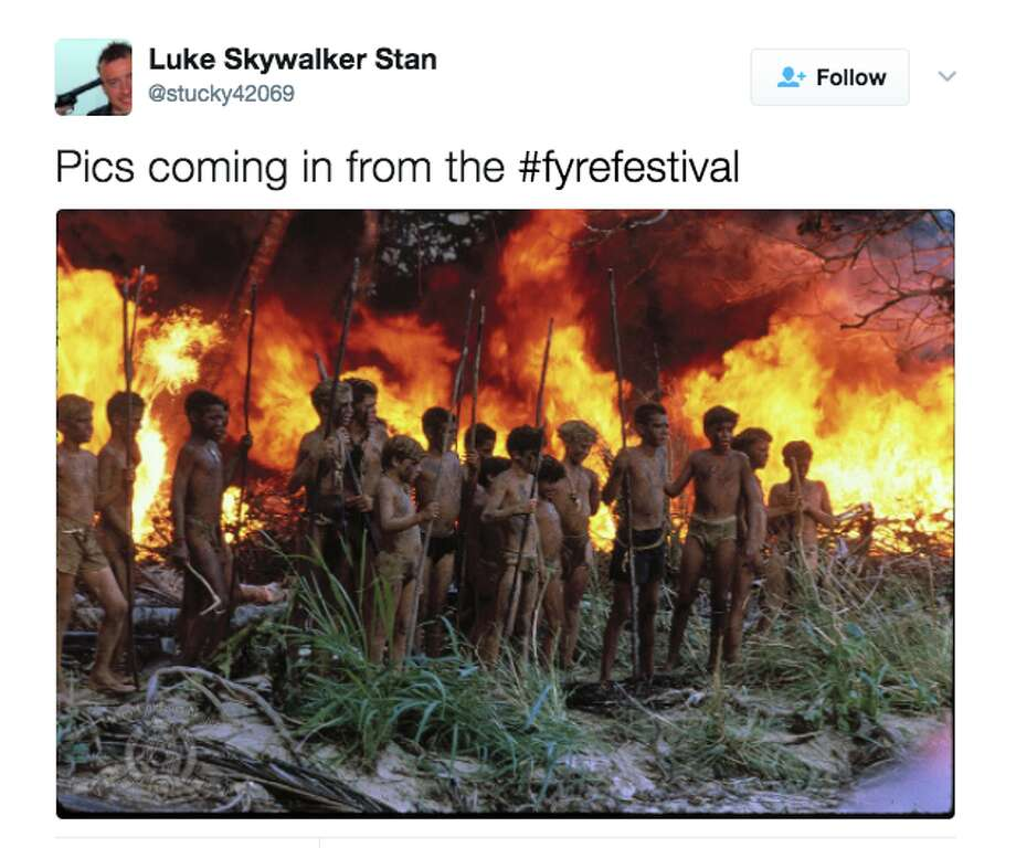 The Fyre Festival, which was due to be held in the Bahamas for patrons who paid between $4,000 and $12,000 a ticket, went very wrong according to people onsite. Here are some Twitter reactions from the ground and responses on social media. Photo: @Stucky42069/Twitter