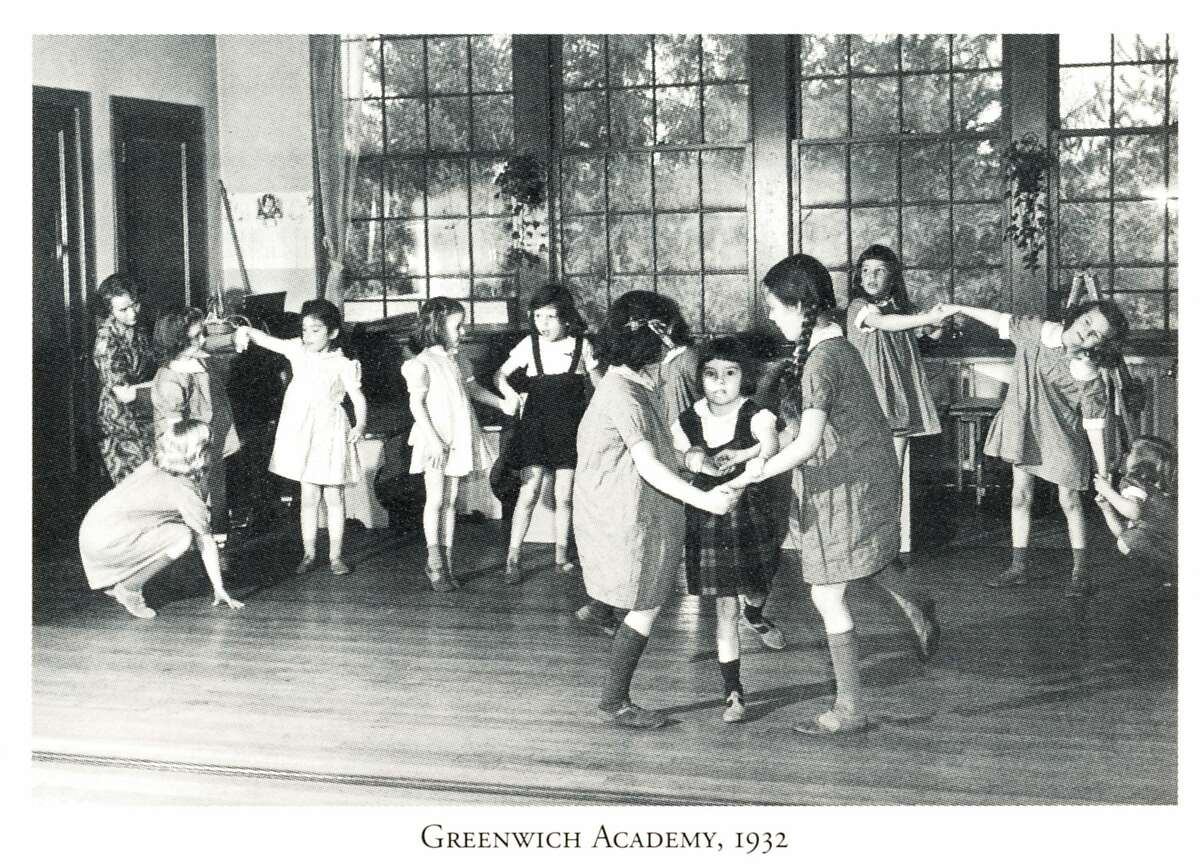 A group of students in the 1930s at Greenwich Academy