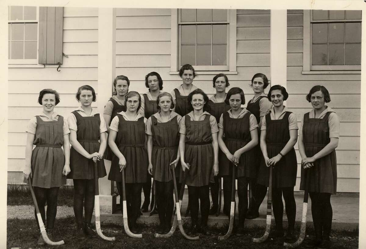 Student athletes in the 1930s at Greenwich Academy.