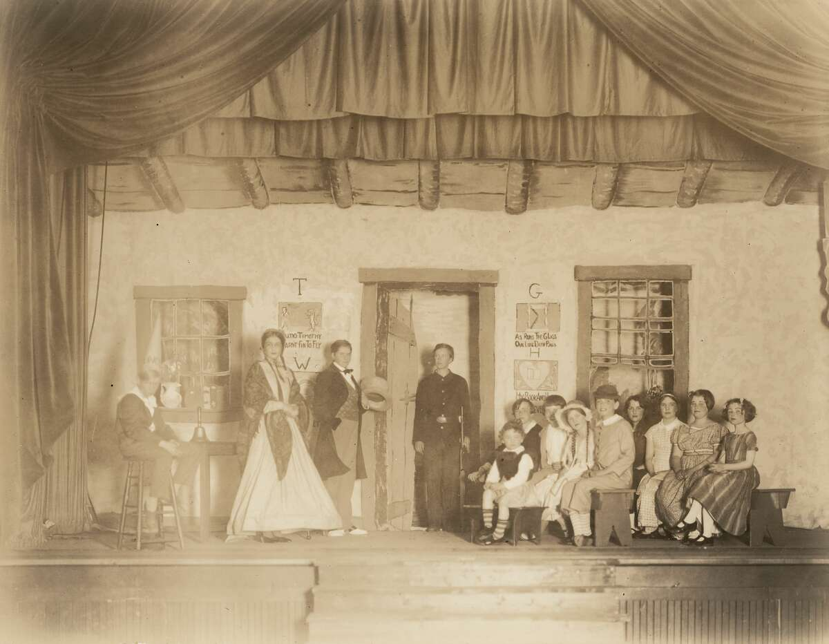 A theater production at Greenwich Academy in the 1920s.
