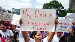 """My child is tomorrow's future""? Given Latino population growth, this sign at a 2004 rally in Austin is even more prophetic now than it was then. The Latino Policy Symposium in San Antonio next week will look at the economic condition of Hispanics and, therefore, the state."