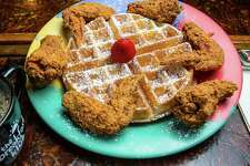 The Breakfast Klub's wings and waffles