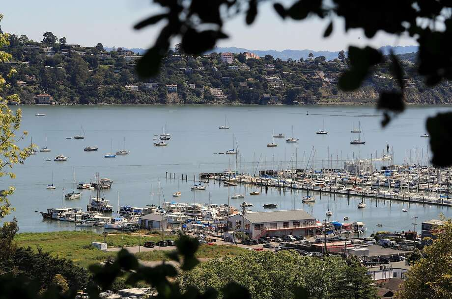 Boats anchored offshore outside of Bridgeway Marina in Richardson Bay, Sausalito, Ca. on Friday April 28, 2017. Photo: Michael Macor, The Chronicle
