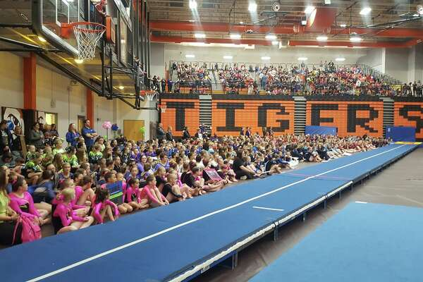 A look inside Lucco-Jackson Gymnasium during the USTA Southern Illinois State Championships.