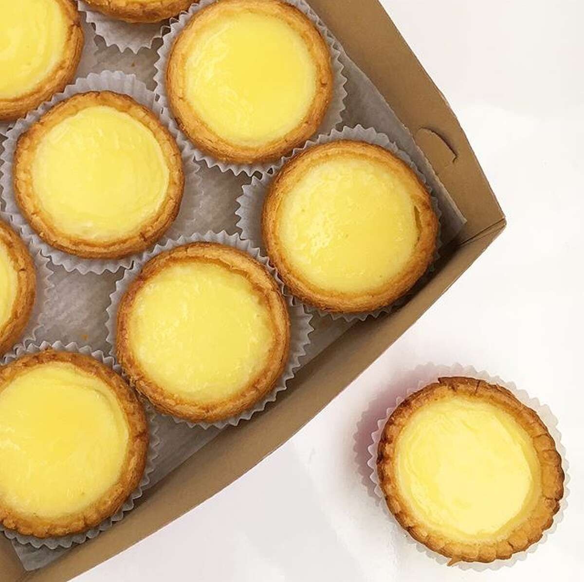 Egg tarts at Golden Gate Bakery in Chinatown.