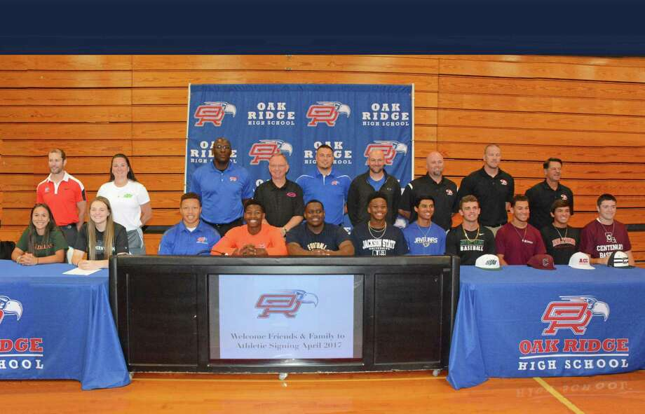 Eleven athletes from Oak Ridge signed their letters of intent earlier this week. Photo: Submitted Photo