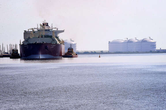 The first of many LNG ships entered the Golden Pass Terminal in October of 2010 carrying with it one million barrels of the material that will be used to start up the facility. Guiseppe Barranco/The Enterprise