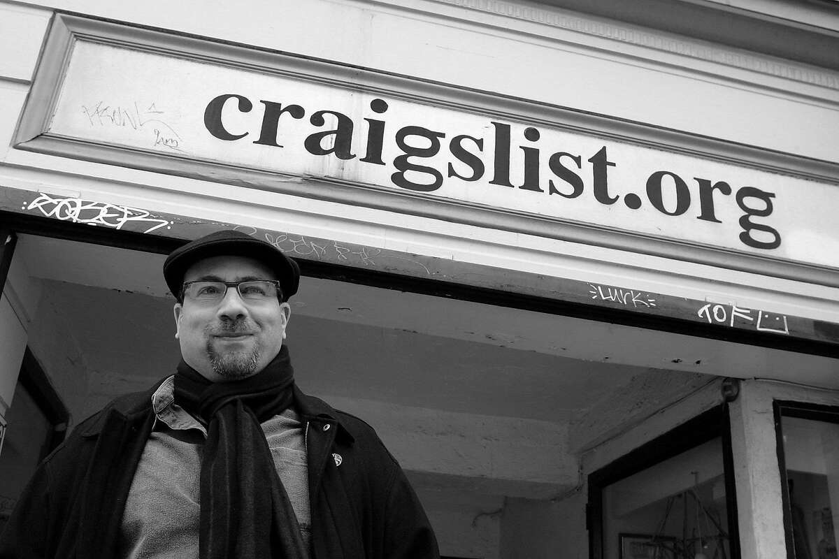 Craigslist founder, Craig Newmark, poses in front of the Craigslist office March 21, 2006 in San Francisco, California. Craig Newmark, a former computer programmer, started craigslist.org in 1995 as an e-mailed dispatch to friends of local San Francisco jobs and apartment vacancies. Craigslist has now grown to the worlds largest source of online classifieds reaching over 6 million people a month in over 75 countries which has greatly hurt newspaper revenues that relied on income generated from classified ads.