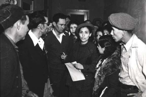 Emma Tenayuca led the Pecan-Shellers Strike of 1938 against wage cuts.