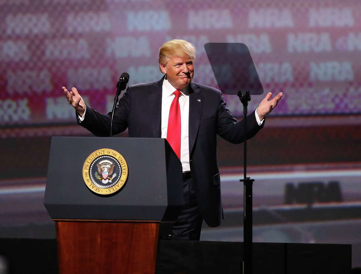 President Donald Trump told the NRA at its Atlanta convention