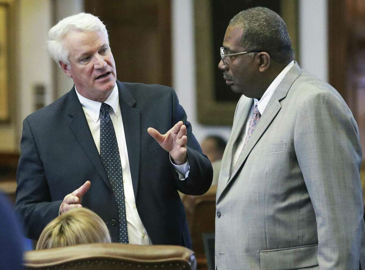 Representative Lyle Larson, R-San Antonio, seen in Austin on April 27, estimates he'll be missing half of his annual fishing trip to Lake Michigan thanks to the special session.