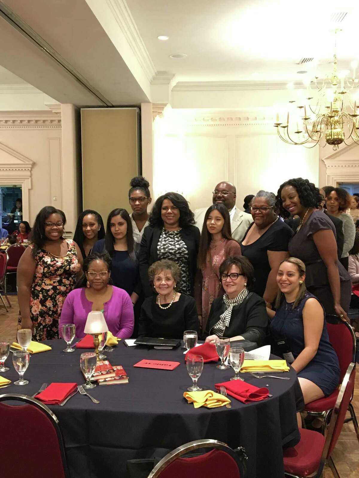Matilda Raffa Cuomo receives the Liberty Partnerships Program Lifetime Achievement Award Friday night in Colonie. (Photo provided)