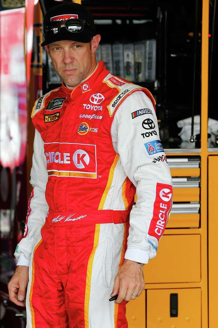 RICHMOND, VA - APRIL 28:  Matt Kenseth, driver of the #20 Circle K Toyota, stands in the garage area during practice for the Monster Energy NASCAR Cup Series Toyota Owners 400 at Richmond International Raceway on April 28, 2017 in Richmond, Virginia.  (Photo by Brian Lawdermilk/Getty Images)