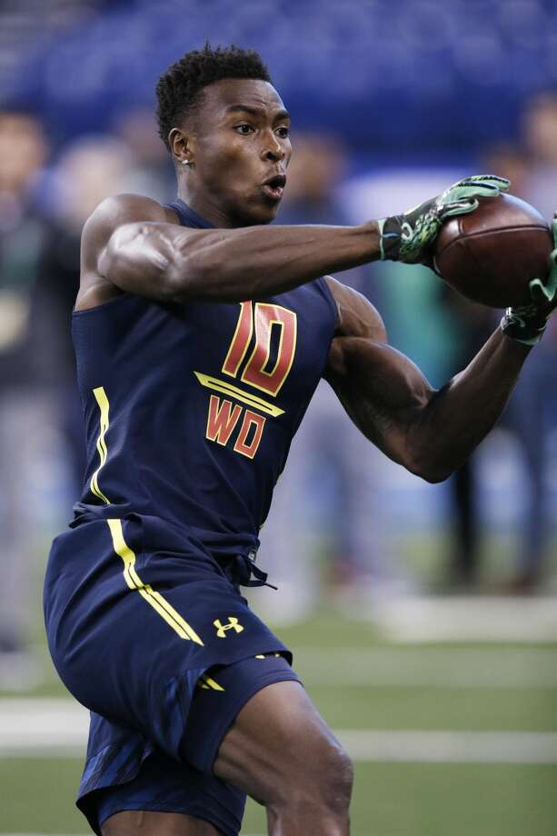 Wide receiver Amara Darboh of Michigan in action during day four of the NFL Combine at Lucas Oil Stadium on March 4, 2017 in Indianapolis, Indiana. (Photo by Joe Robbins/Getty Images) Photo: Joe Robbins/Getty Images