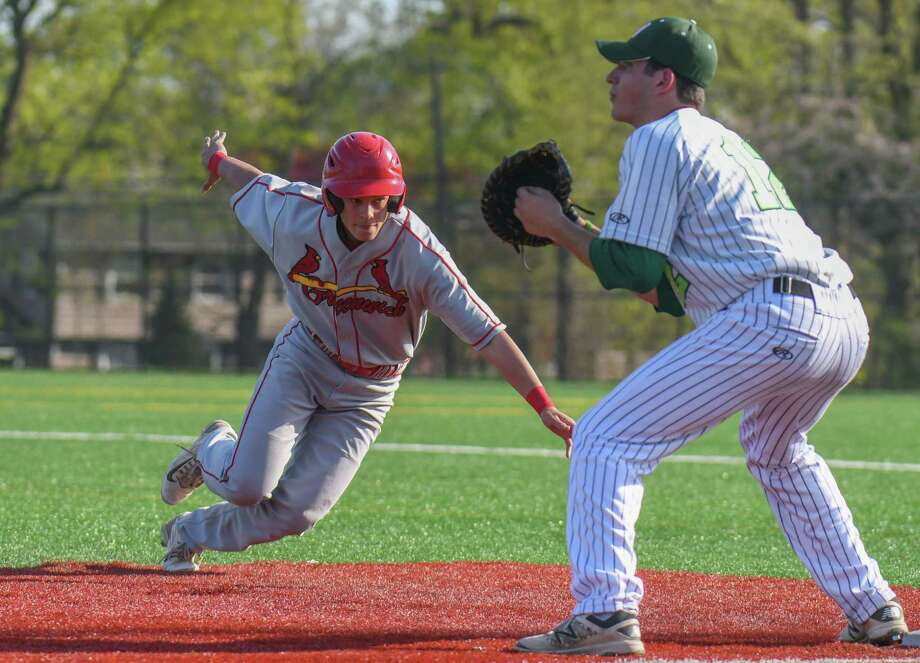 FCIAC baseball action between the Norwalk Bears and the Greenwich Cardinals at Nathan Hale Middle School on April 28, 2017 in Norwalk, Connecticut. Photo: Gregory Vasil / For Hearst Connecticut Media / Connecticut Post Freelance