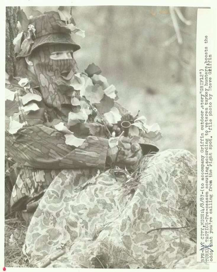 STEVE GRIFFIN | file photo for the Daily News Herschel Richardson, a pioneering Midland area turkey hunter who died recently, is shown in a turkey hunting pose in the 1980s.