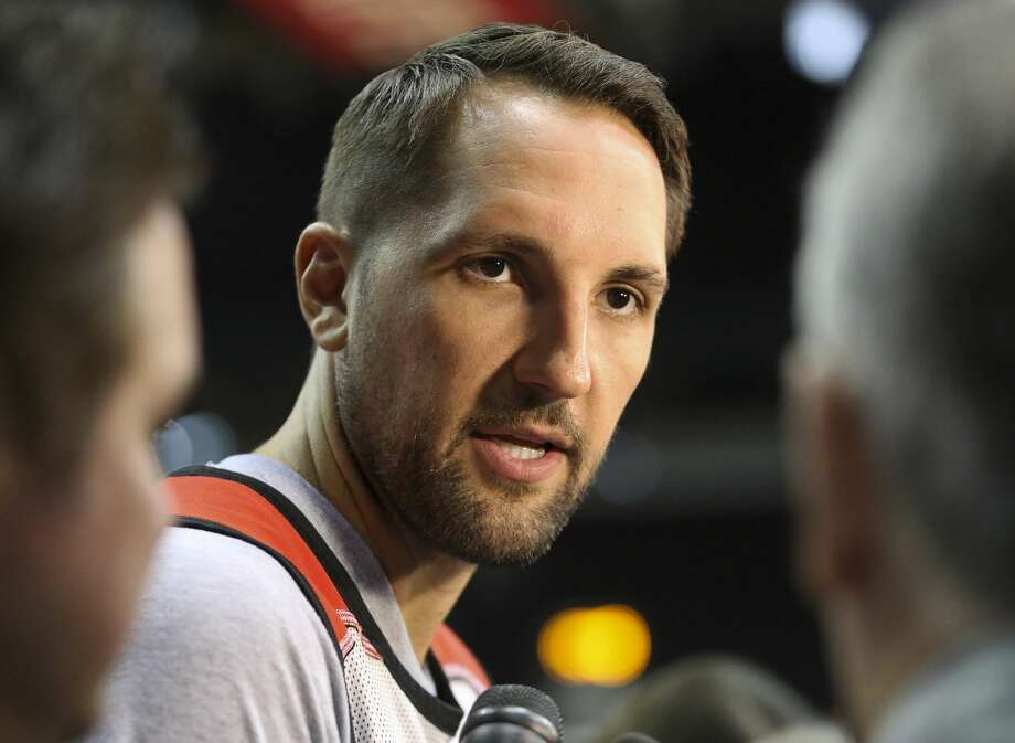 Houston Rockets forward Ryan Anderson (3) answers questions during practice at Toyota Center Friday, April 28, 2017, in Houston. ( Yi-Chin Lee / Houston Chronicle ) Photo: Yi-Chin Lee/Houston Chronicle