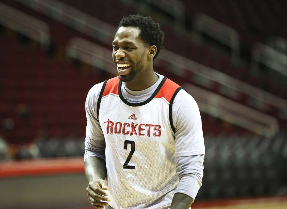 Houston Rockets guard Patrick Beverley (2) has a laughing moment during practice at Toyota Center Friday, April 28, 2017, in Houston. ( Yi-Chin Lee / Houston Chronicle ) Photo: Yi-Chin Lee/Houston Chronicle