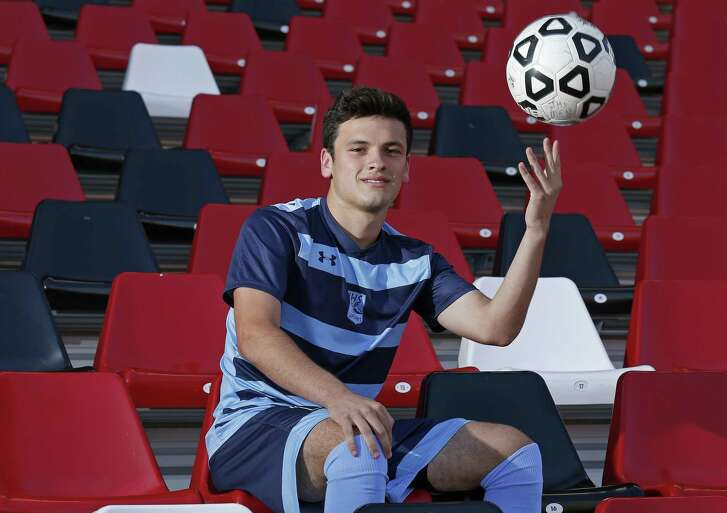 Johnson's Jacob Hallenberger, posing at Toyota Field, is the 2017 Express-News Boys Soccer Player of the Year.