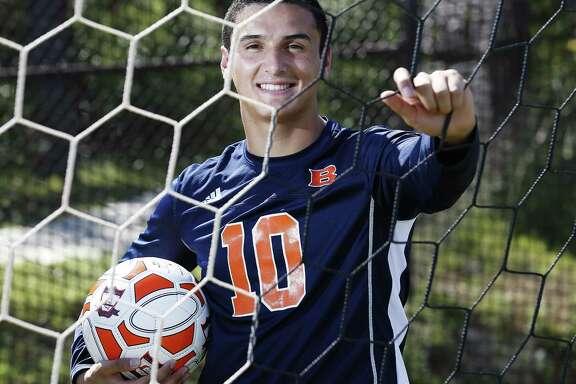 Portraits of All-Area soccer players: Brandeis' Marlon Flores-Flores. (Kin Man Hui/San Antonio Express-News)