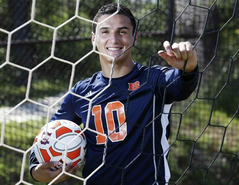 Portraits of All-Area soccer players: Brandeis' Marlon Flores-Flores. (Kin Man Hui/San Antonio Express-News) Photo: Kin Man Hui, Staff / San Antonio Express-News / ©2017 San Antonio Express-News
