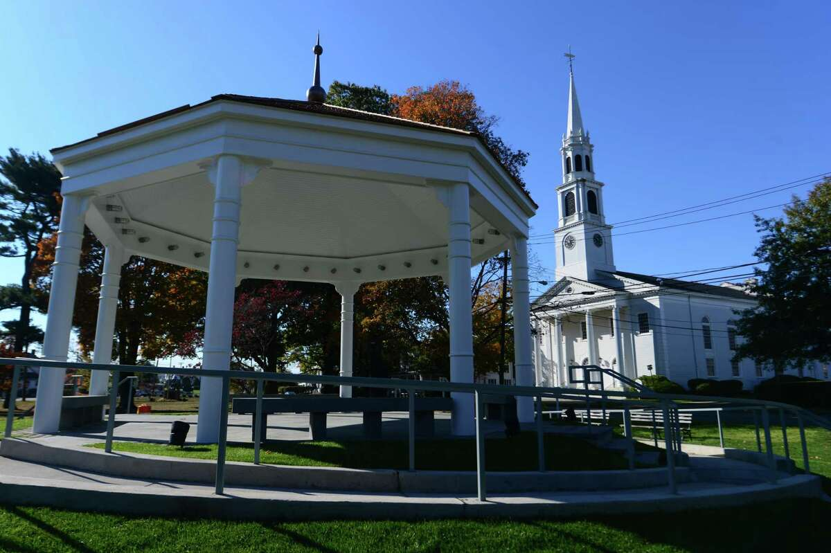 Norwalk Town Green and First Congregational Church in Norwalk.
